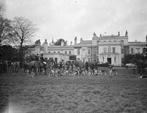 Warfield Hall, near Bracknell, residence of Mr W I Shard, scene of a meet of the