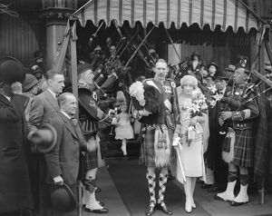 Wedding of Captain Walter Leslie, Seaforth Highlanders ( Lavernock Emsworth )