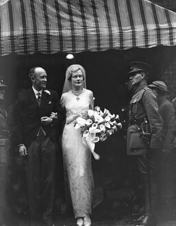 Wedding of Major James Hare, ( 60th rifles ) and Miss Diana Woodroffe at Holy Trinity