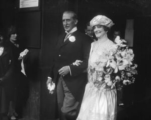Wedding. The marriage between Sir Vincent Caillard and Mrs Maund took place at