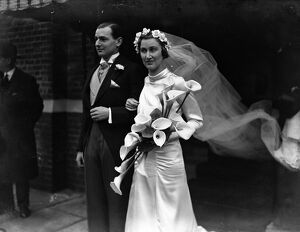 The wedding of Mr John Neil Cooper and Miss Betty Soames ( Kent County Tennis player