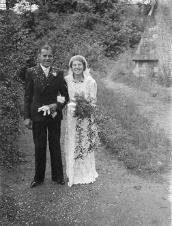 The wedding of Mr Miller and Miss Gooding in Gravesend, Kent. The bride and groom