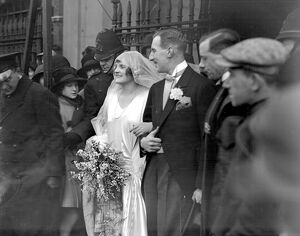 Wedding of Mr R.H.L. Brackenbury and Miss Trewly Springman at St mark's, North