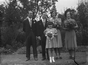 The wedding of Mr Roy Pearl and Miss Patricia Kirby in Sidcup, Kent. The Bridal group