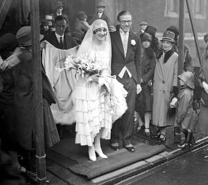 Wedding of Mr Spencer Curtis Brown and Miss Enid Jean Watson at St Columba's Pont Street