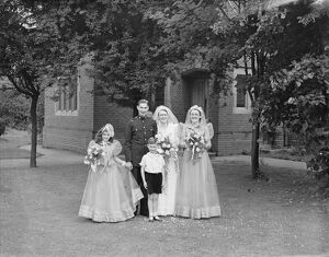 The wedding of Robert W Barnard ( RACS ) and Miss Frances Mullet in New Eltham, Kent