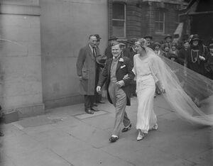 A wedding in the temple. The marriage between Mr Harold Heathcote Williams, of 3