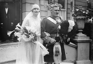 The wedding took place between Lt Col Robertson, VC, DSO, and Miss H Forster
