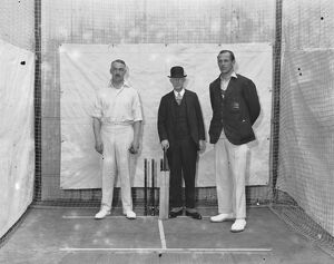 At the West London Indoor cricket club, Acton F T Mann, P F Warner and Durston