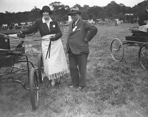 Westerham Hill Horse Show Mrs Raymond Phillips and Mr A E Wilson ( Vice Chairman