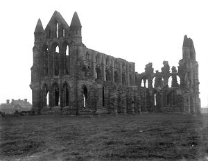 Whitby Abbey ruins, north Yorkshire. 25 October 1920