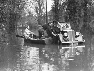 A wide area of Berkshire lies underwater following the overflowing of the river Thames