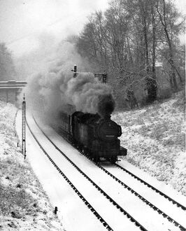 Winchmore Hill railtrack in January 1947
