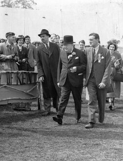 Winston Churchill at the Kent Agricultural Show in Maidstone 15th July 1948