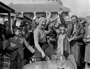 Woman wins first race at Brooklands meeting. The Brooklands Automobile Racing