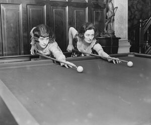 Womans Billiards Championship at the Burroughes Hall, Soho Square Miss Joyce Gardner