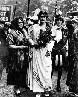 Woman's Right To Serve Demonstration, on 17 July 1915, of thousands of women