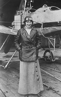 A women to attempt Atlantic flight. Mrs Luba Phillips, who is to attempt a non