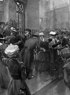 The wrong agrument suffragettes chained to the railings. Suffragettes raid on 10